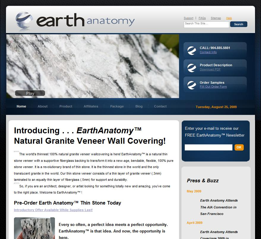 Grizzly Partners, LLC home of EARTH ANATOMY ULTRA THIN GRANITE logo