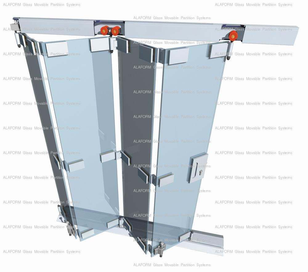 Alaform Frameless Glass Folding Door Systems Glass