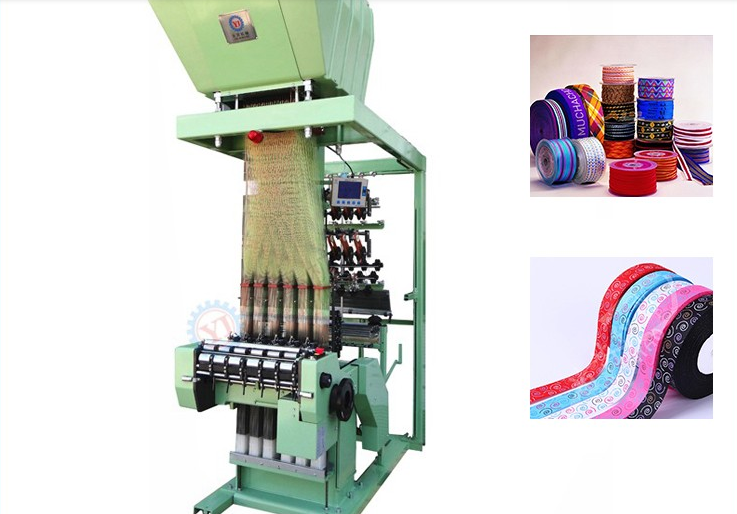 High efficiency automatic jacquard elastic tape weaving machine