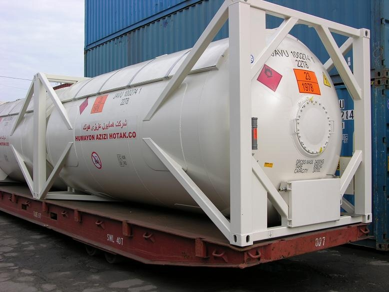 Un t50 portable tank container for lpg manufacturer for Un container