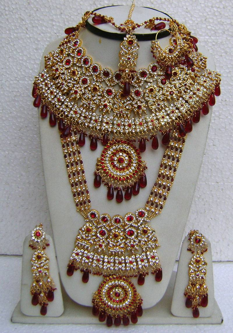 bollywood indian fashion sarees partywear kundan necklace On indian costume jewelry near me