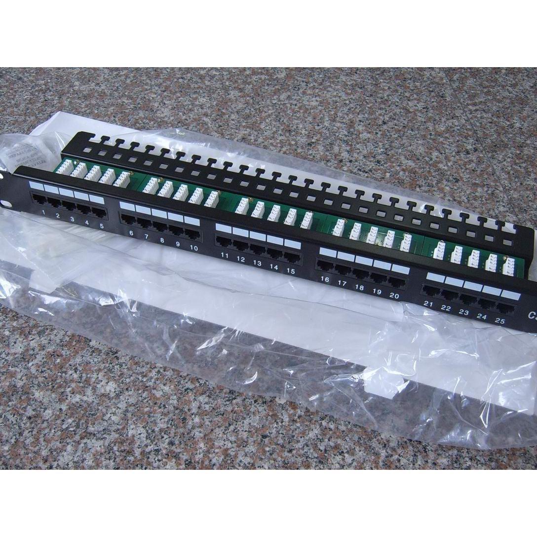 25 Pot Cat3 Modular Telephone Patch Panels