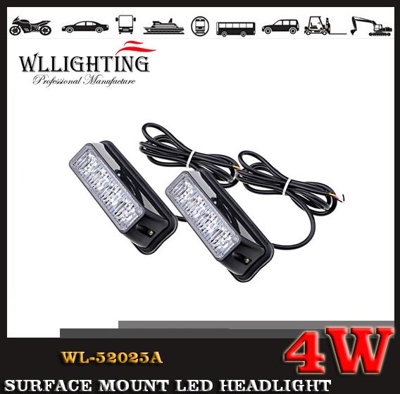 4w 24v 12v LED Grille and Surface Mount Light