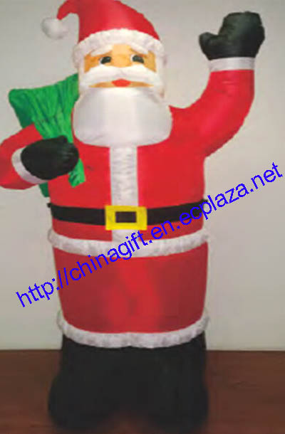 1.2M Christmas Inflatable Santa Claus Holding Gift Bag