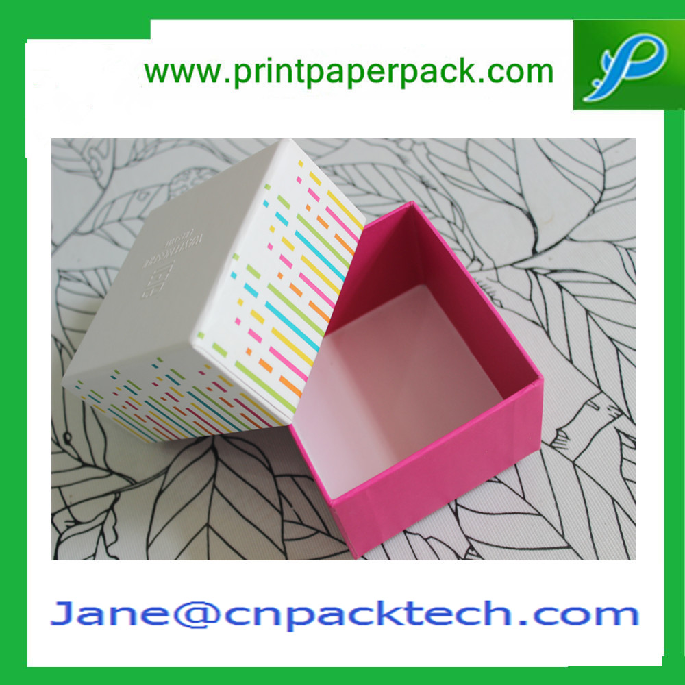 Customized Logo Printing Rigid Cardboard Paper Gift Packaging Box Top and Bottom Box