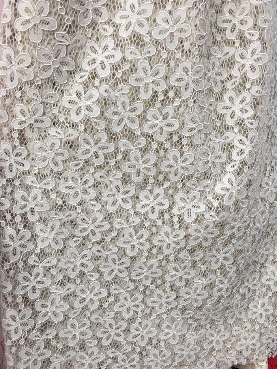 Jacquared Nylon Lace Lingerie Lace Fabric
