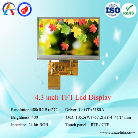 high quality OEM tft lcd panel manufacture