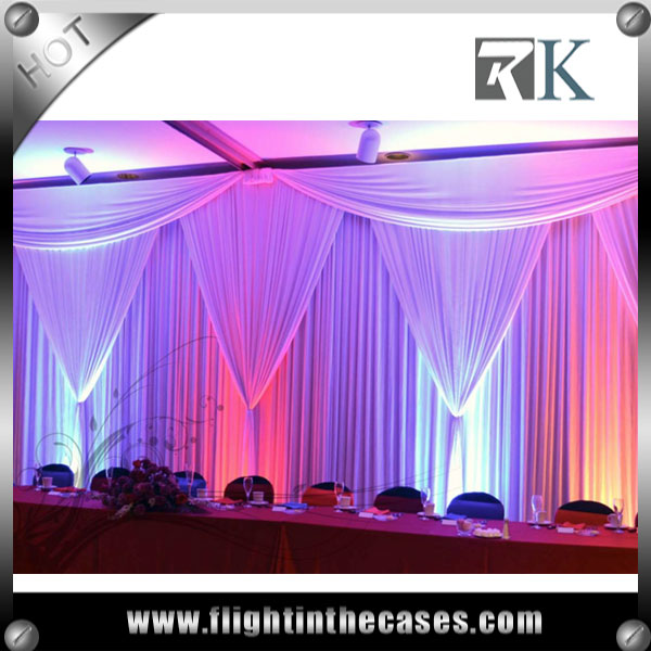 RK pipe and drape stands wedding decoration satin fabric