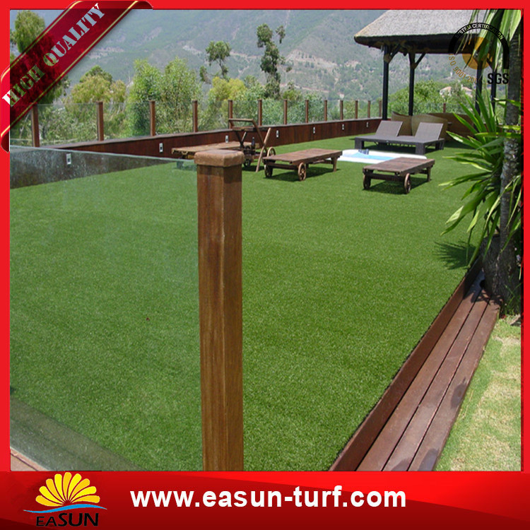 Factory cheap outdoor docorative artificial grass synthetic lawn grass-Donut
