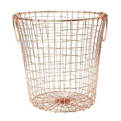 Metal Wire Under Shelf Hanging Storage Copper Basket For Kitchen Wholesale
