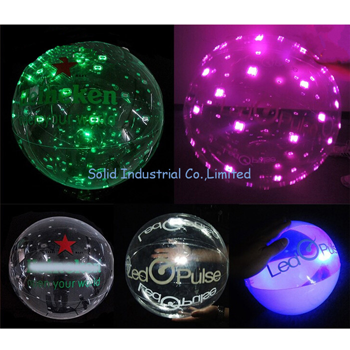 Shake Control Promotion Gifts PVC Inflatable Giant LED Ball