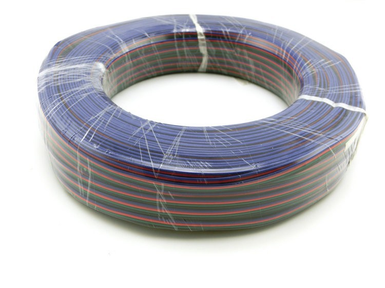 4pin electrical PVC Tinned RGB Copper Cable, Insulated wire for LED light strip Extension