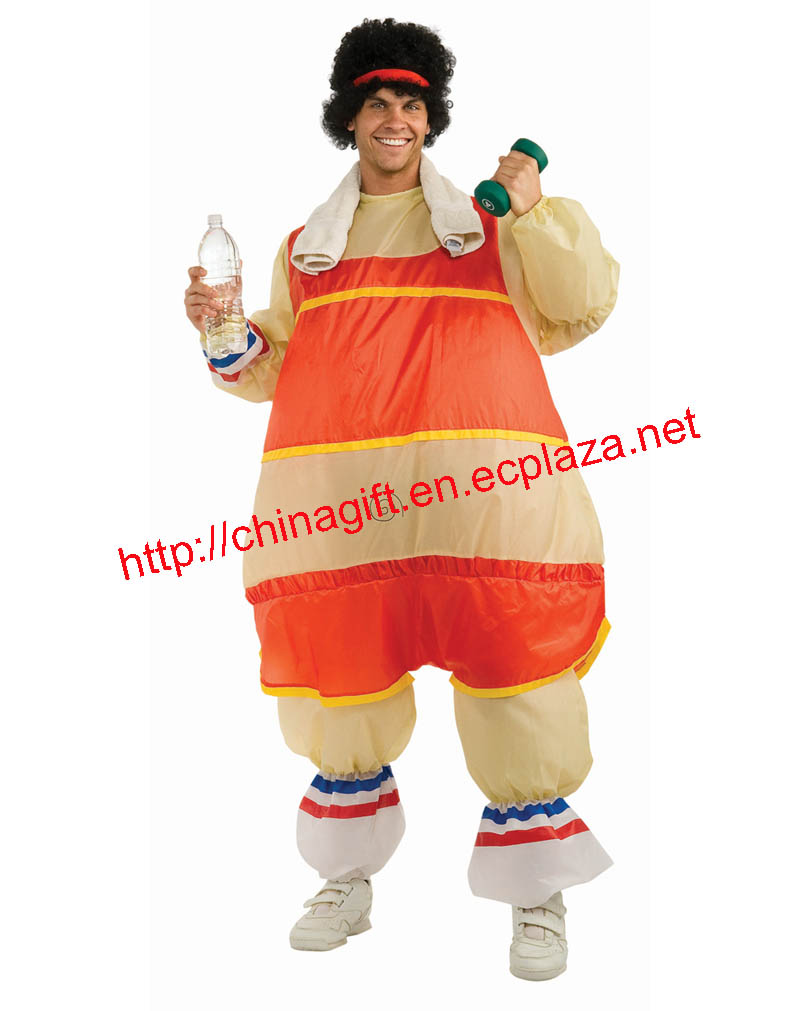 80's Workout Guy Inflatable Adult Mens Costume
