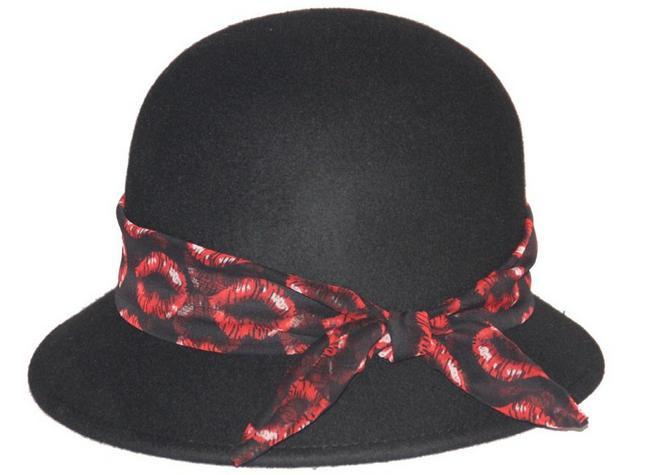 100% WOOL FELT BOWLER HAT
