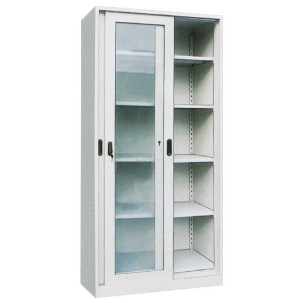 Glass Sliding Door Steel Body Filing Cabinet Luoyang