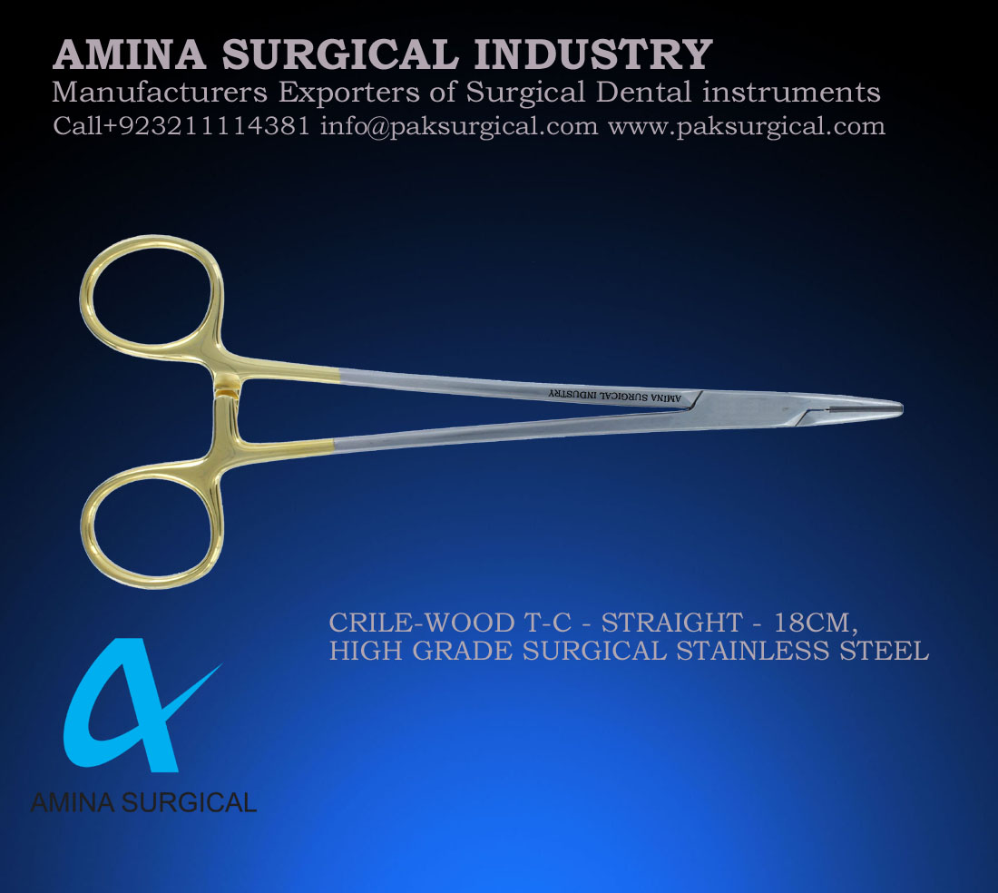 CRILE WOOD TC Forceps Surgical dental instruments