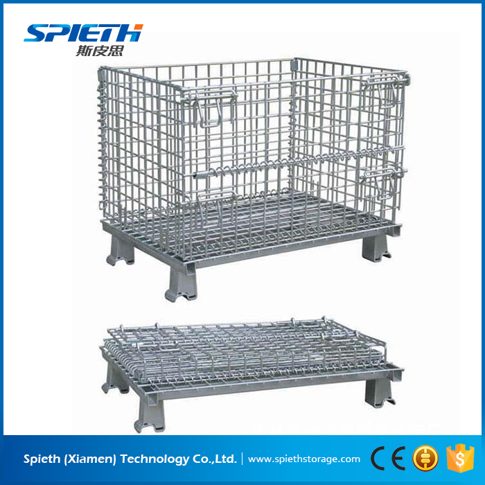 Heavy Duty Galvanized stackable wire mesh pallet cage