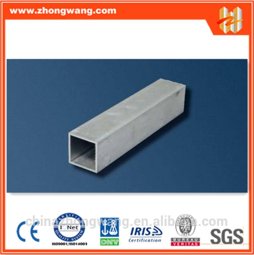 Standard aluminum alloy extrusion square pipes tubes profile