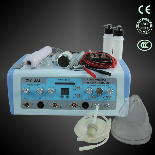7 in 1 vacuum breast care high frequency ultrasonic beauty facial machine