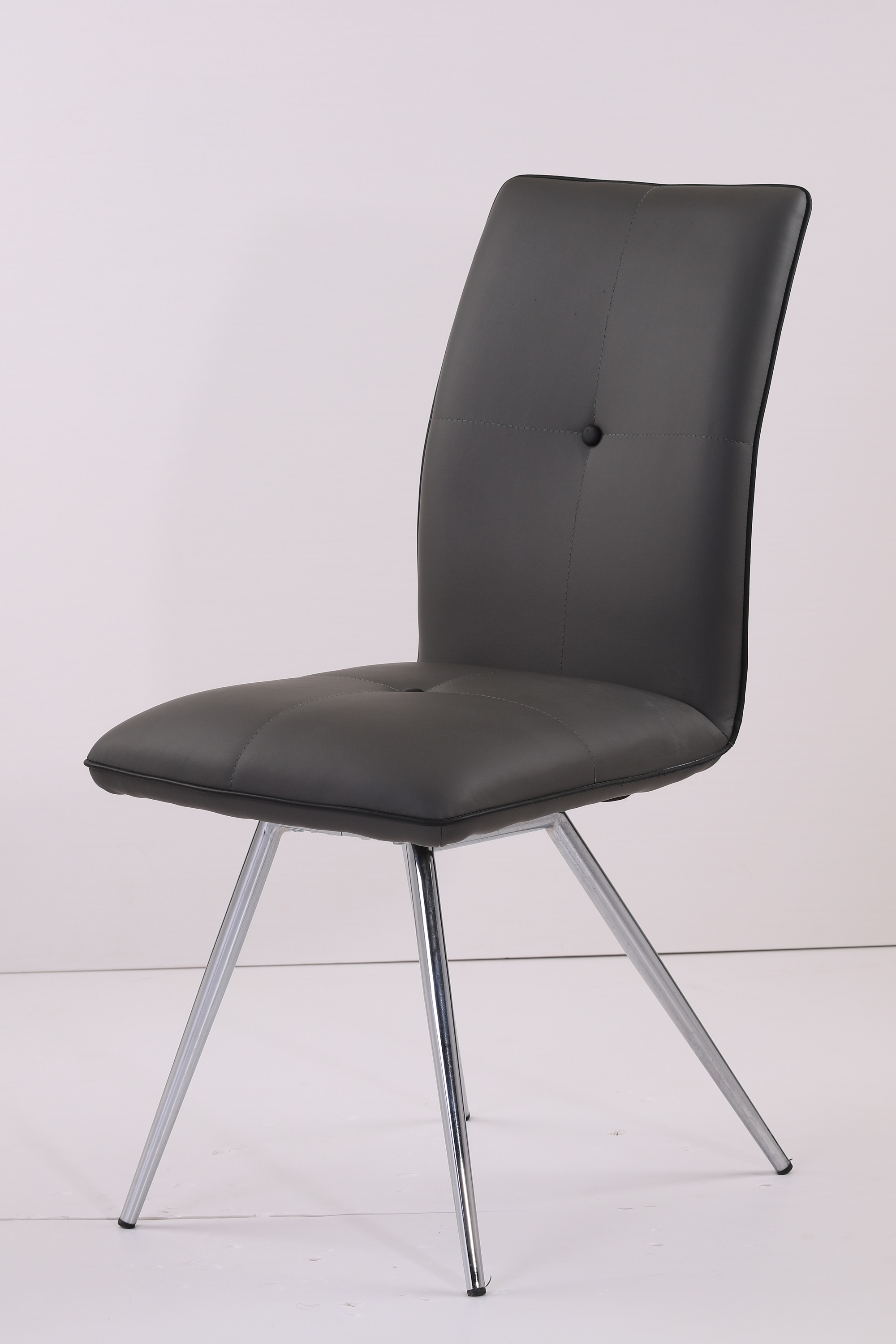 Modern Simple style home Furniture Chromed Frame PU Leather Dining Chair BT043
