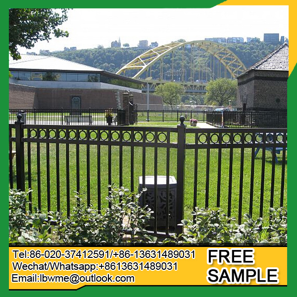 Fence manufacturer cheap price decorative wrought iron fence