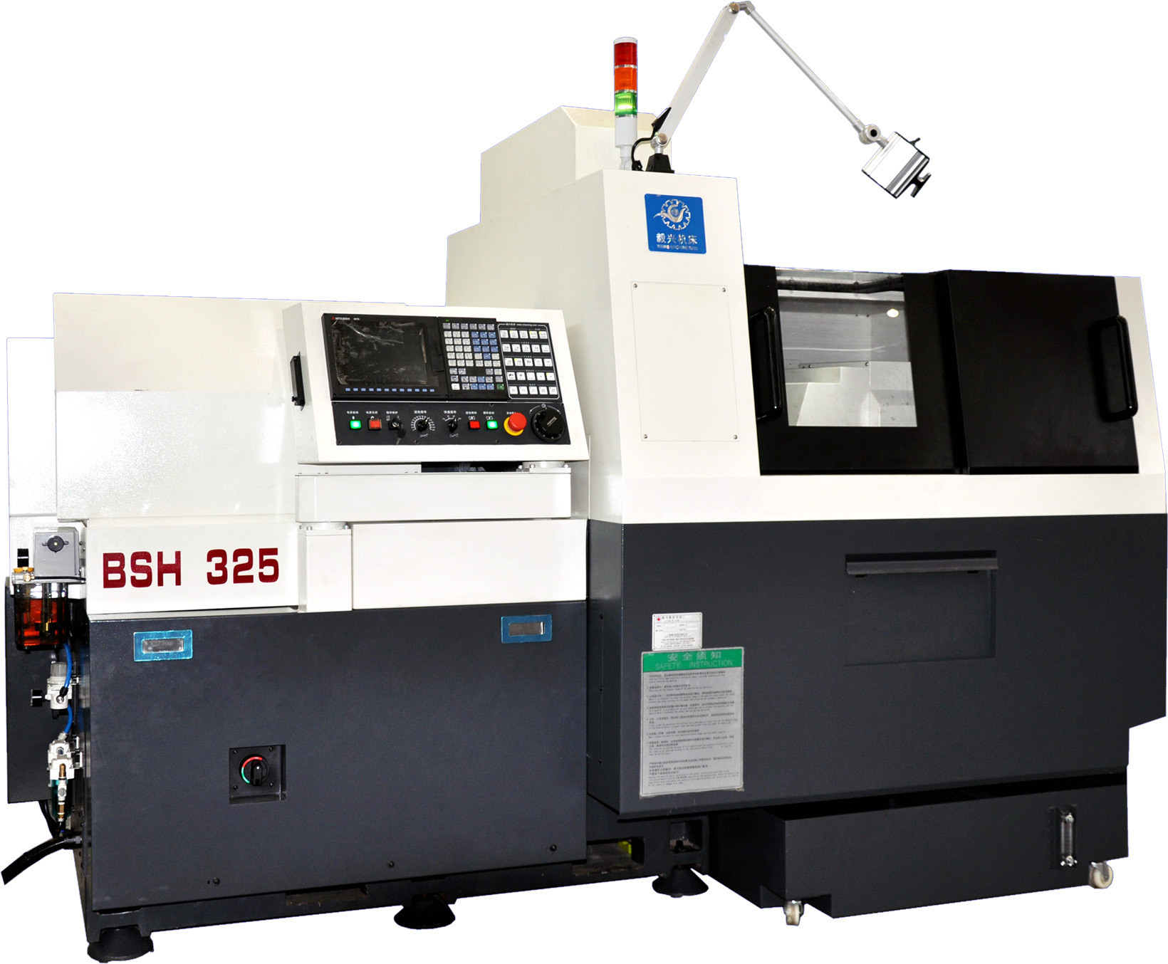 Tsugami type BS205Double-spindle cnc lathe machine swiss type with 5 axis