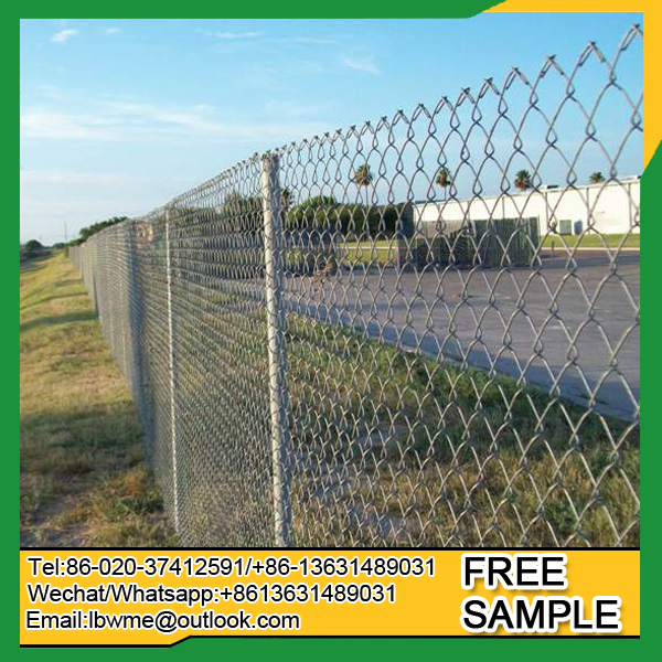 Cheap price high quality galvanized chain link fence for sale wire mesh fencing