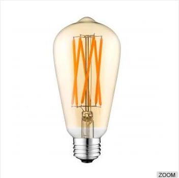 ETL ST19 ST21 6W LED Filament bulbs Gold Amber Glass