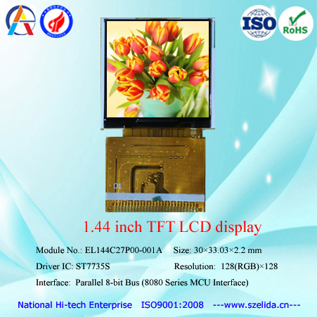 factory wholesale 1.44 inch 128x128 color tft lcd display