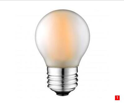 G45 2W 4W 230V LED Filament bulbs Frosted E27 B22