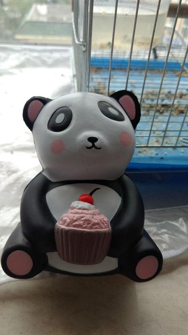 12cm panda with cake squishy slow rising
