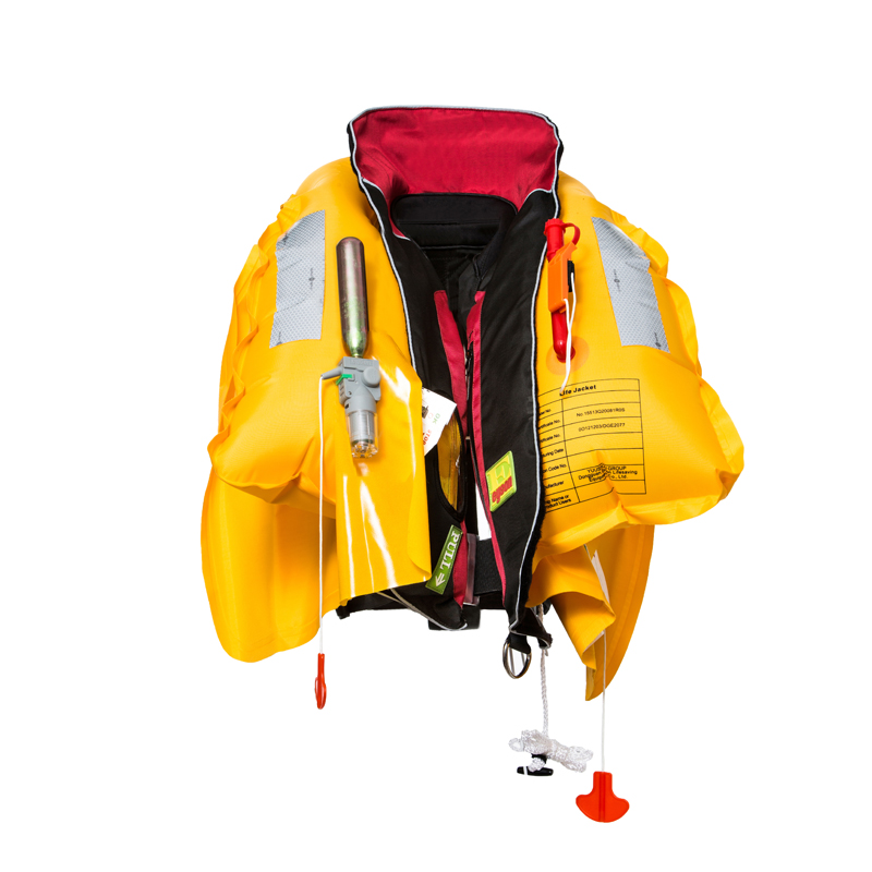Double chamber solas approved inflatable life vest