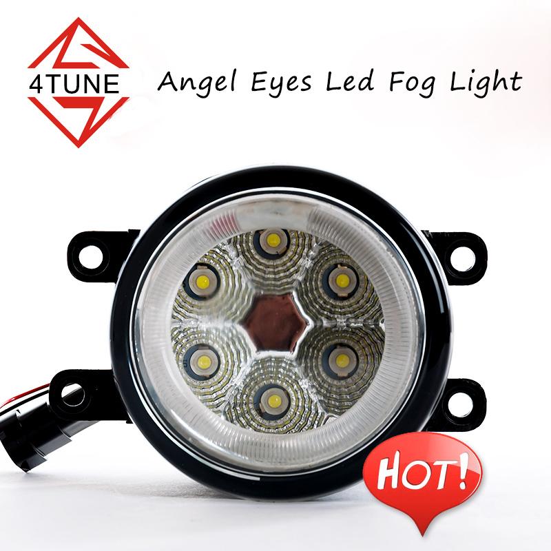 Universal auto fog lamp COB led angel eyes fog lamp car waterproof fog light