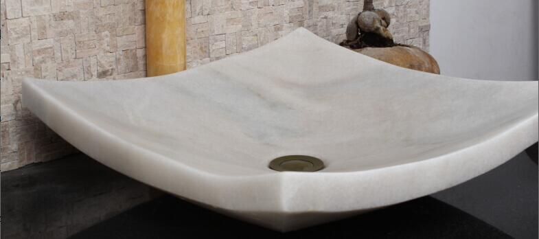 White Marble Vessel Sink