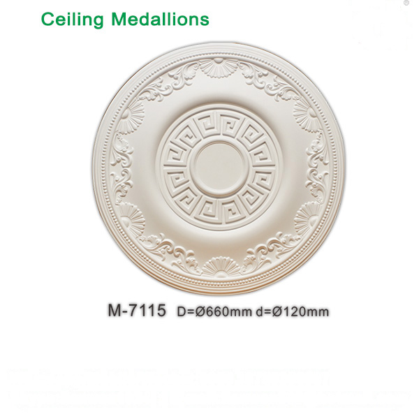 Polyurethane ceiling light medallions