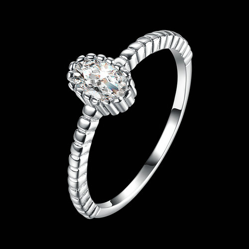 925 Sterling Silver Zirconia Promise Rings