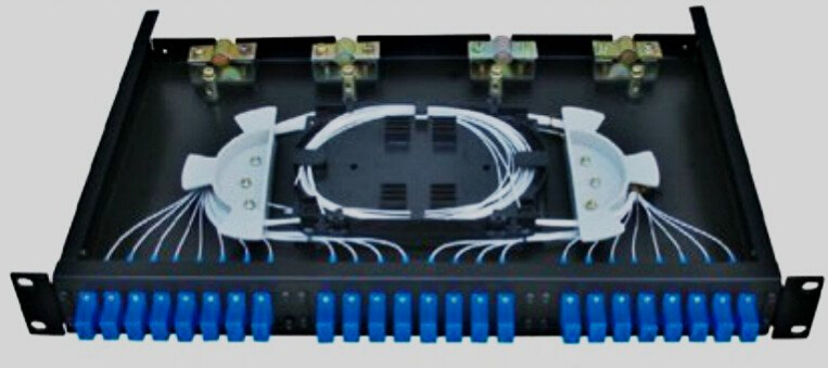 24 core Fiber optic patch panel rack mount ODF distribution box
