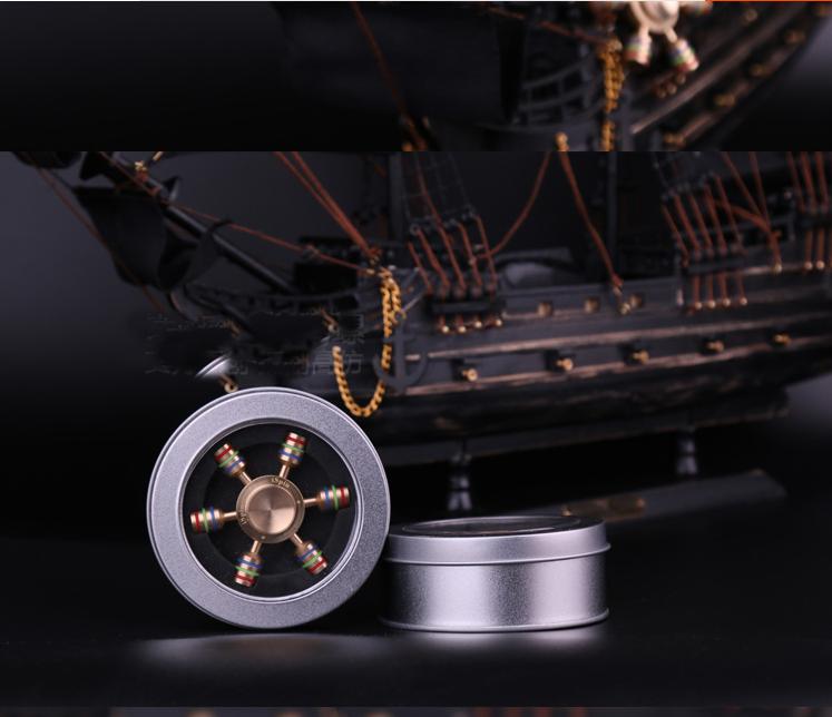 high quality R188 brass Rudder fidget spinners