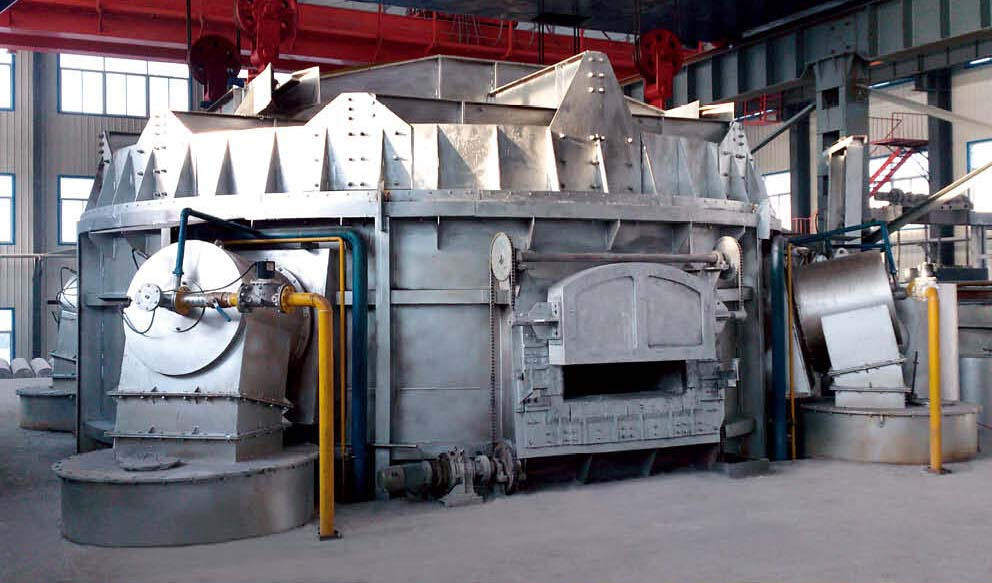 melting furnace with top open round