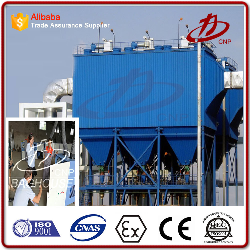 Dust collector baghouse for power plant