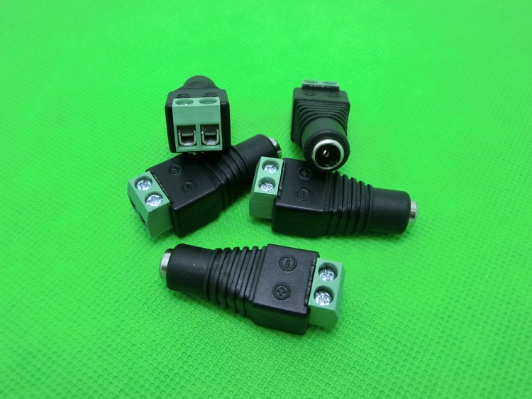 Jack connector, female DC adapter, transposon for LED strip, DC female adapter, DC transformer