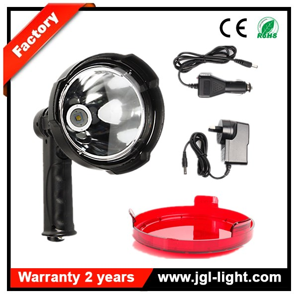 Most popular 25W 110mm 2000LM CREE LED Handheld Reflector Rechargeable Spotlight Hunting Shooting