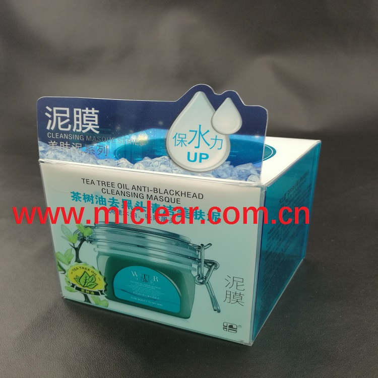 facial mask PET plastic packaging cosmetic PVC clear box