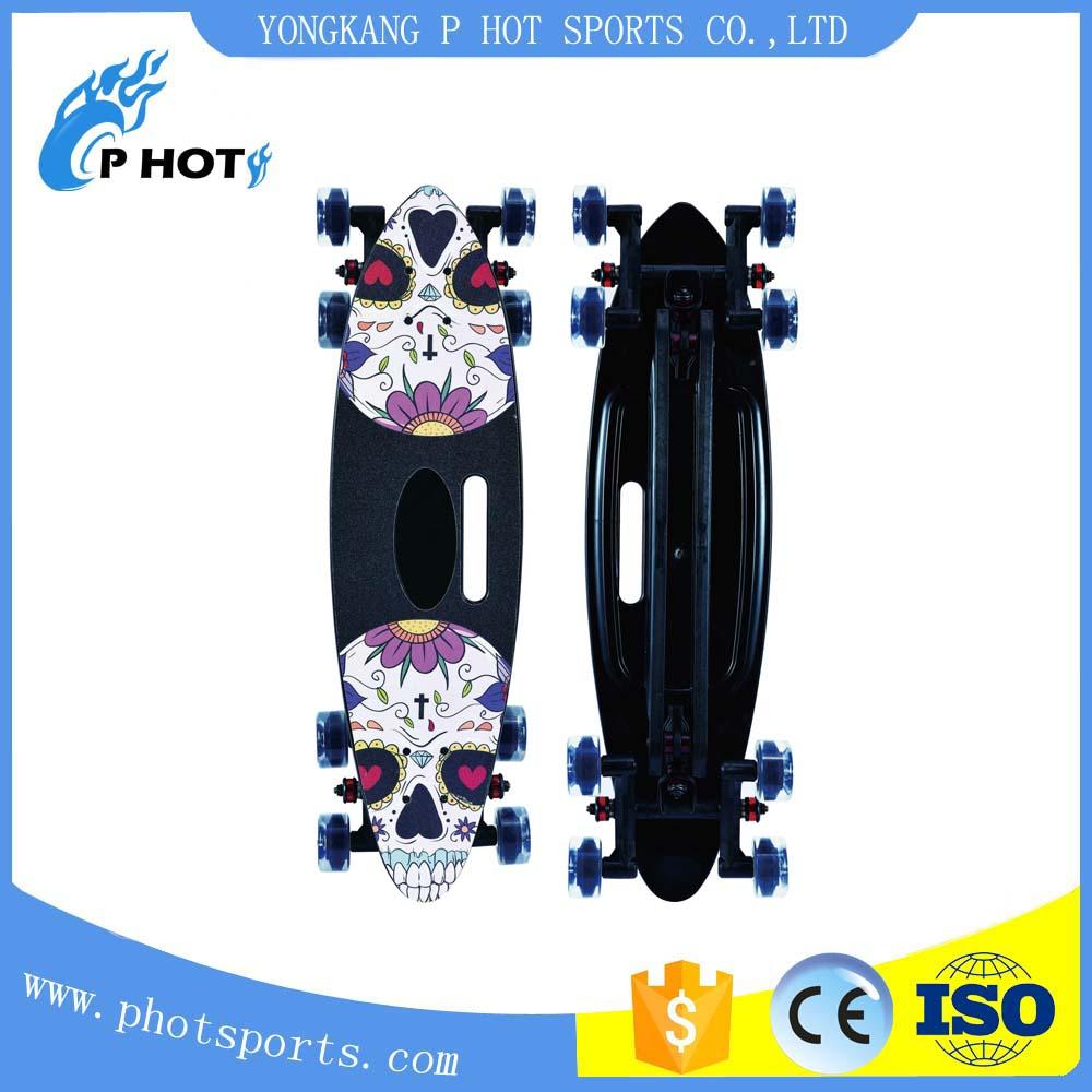Eight wheel 30.5 inch plastic fish board skate board 8 wheels skate board wholesale skateboard