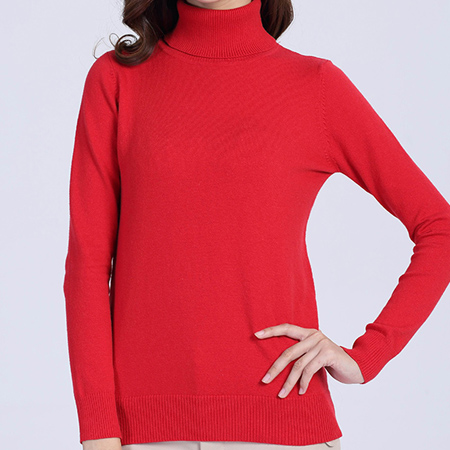 Fall Winter Thermal Sweater Women Turtleneck Long Sleeve Knit Pullover For Ladies Cotton Warm Jumper