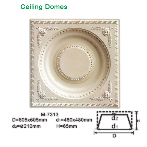 Polyurethane Square ceiling domes for sale