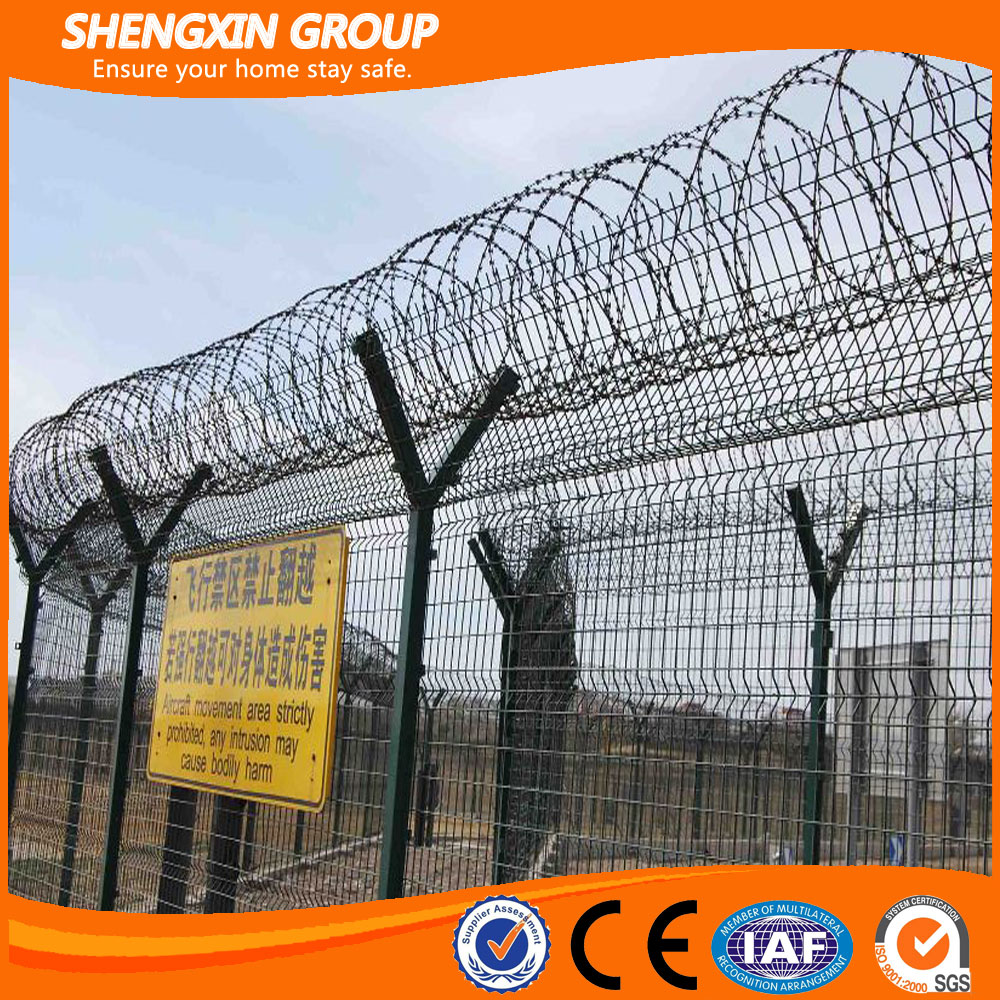 Galvanized PVC Coated Airport Fencing