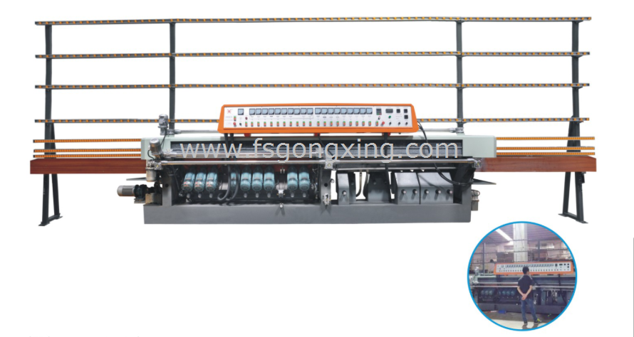 Model GXM919AP Glass Bevelling & Stragiht-line Edging Integrated Machine.