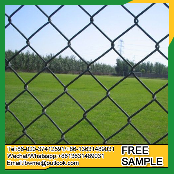 Factory price diamond chain link fence wire mesh fencing