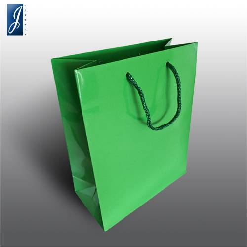 Currency small green packaging bag